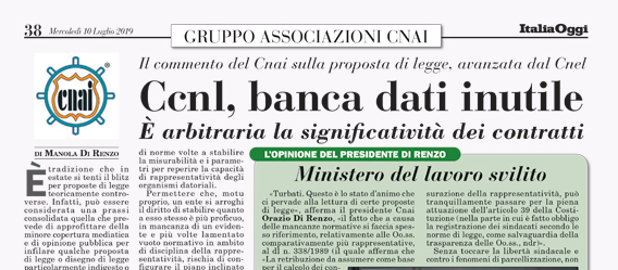 Ccnl, banca dati inutile