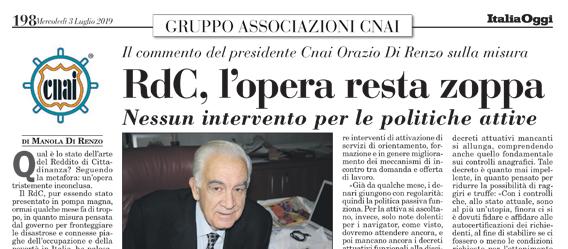 RdC, l'opera resta zoppa