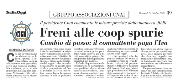 Freni alle COOP spurie