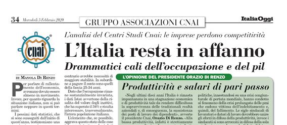 L'Italia resta in affanno
