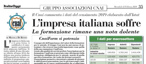 L'impresa italiana soffre
